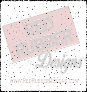 Speckle Unmounted Rubber Stamp from Red Rubber Designs