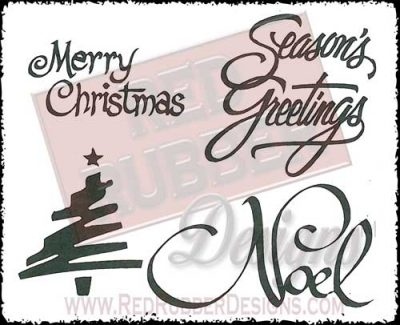 Noel Unmounted Rubber Stamps from Red Rubber Designs