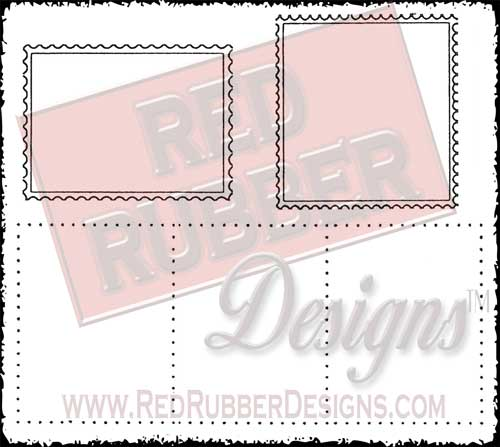 Postage Unmounted Rubber Stamps from Red Rubber Designs