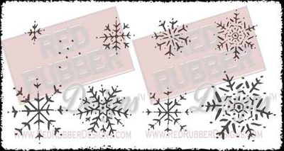 Snowflakes Unmounted Rubber Stamps from Red Rubber Designs