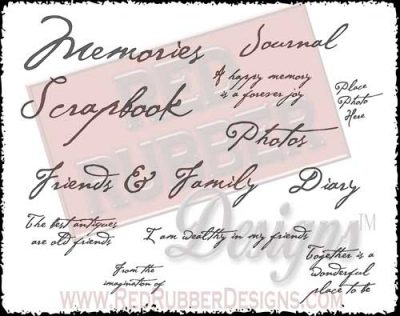 Memories Unmounted Rubber Stamps from Red Rubber Designs