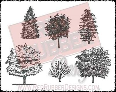 Treeline Unmounted Rubber Stamps from Red Rubber Designs