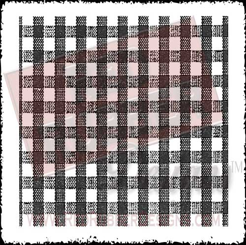 Gingham Background Unmounted Rubber Stamp from Red Rubber Designs
