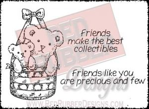 Friends Like You Unmounted Rubber Stamps from Red Rubber Designs