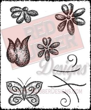 Fresh and Fun Unmounted Rubber Stamps from Red Rubber Designs