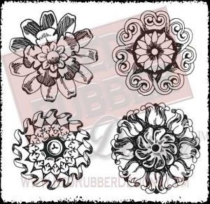 Medallions Unmounted Rubber Stamps from Red Rubber Designs