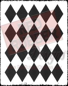 Harlequin Background Unmounted Rubber Stamp from Red Rubber Designs