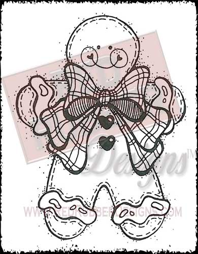 Ginger Joy Unmounted Rubber Stamp from Red Rubber Designs