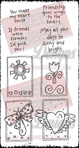 Friendship Blocks Unmounted Rubber Stamps from Red Rubber Designs
