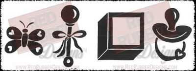 Baby Bolds Unmounted Rubber Stamps from Red Rubber Designs