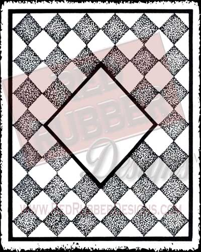 Designer Diamonds Unmounted Rubber Stamp from Red Rubber Designs