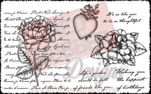 Rose Collage Unmounted Rubber Stamps from Red Rubber Designs