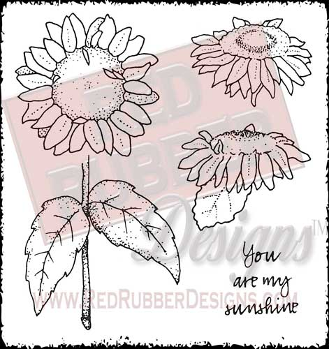 My Sunshine Unmounted Rubber Stamps from Red Rubber Designs