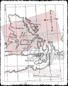 Ancient Map Unmounted Rubber Stamp from Red Rubber Designs