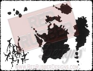 Tea Stain Backgrounds Unmounted Rubber Stamps from Red Rubber Designs