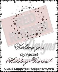 Star Wreath Cling Mount Rubber Stamps from Red Rubber Designs