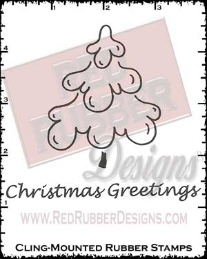 Brushed Christmas Cling Mount Rubber Stamps from Red Rubber Designs