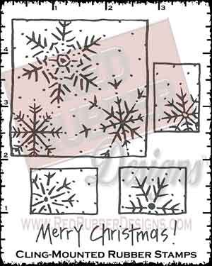 Snowflake Blocks Cling Mounted Rubber Stamps from Red Rubber Designs