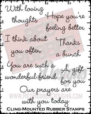 Loving Thoughts Cling Mounted Rubber Stamps from Red Rubber Designs