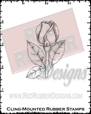 Rosebud Cling Mounted Rubber Stamp from Red Rubber Designs