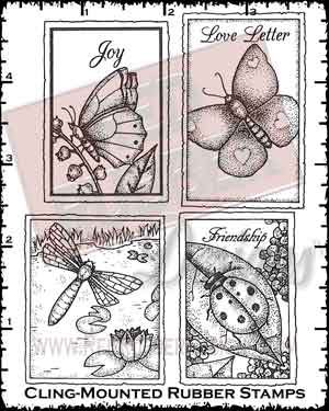 Buggy Postage Cling Mounted Rubber Stamps from Red Rubber Designs