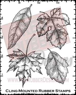 Luscious Leaves Cling Mounted Rubber Stamps from Red Rubber Designs