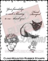 Purr-fect Flowers Cling Mounted Rubber Stamps from Red Rubber Designs
