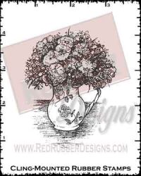 Spring Bouquet Cling Mounted Rubber Stamp from Red Rubber Designs