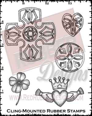 Celtic Images Cling Mounted Rubber Stamps from Red Rubber Designs