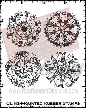 More Medallions Cling Mounted Rubber Stamps from Red Rubber Designs