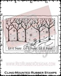 Let It Snow Cling Mounted Rubber Stamp from Red Rubber Designs