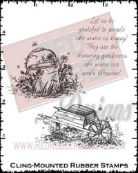 Charming Gardeners Cling Mounted Rubber Stamps from Red Rubber Designs