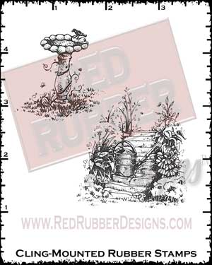 Charming Gardens Cling Mounted Rubber Stamps from Red Rubber Designs