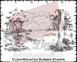 Charming Forest Cling Mounted Rubber Stamps from Red Rubber Designs