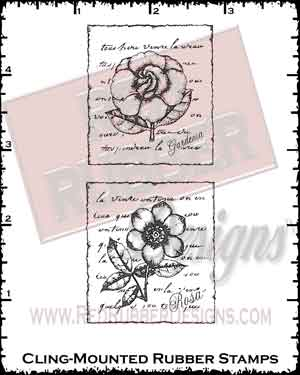Floral Collage Cling Mounted Rubber Stamps from Red Rubber Designs