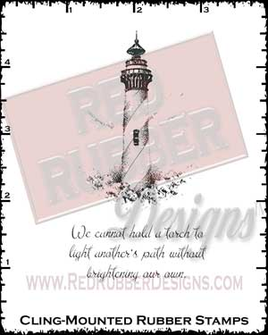 Light The Path Cling Mounted Rubber Stamps from Red Rubber Designs