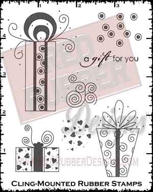 Gift For You Cling Mounted Rubber Stamps from Red Rubber Designs