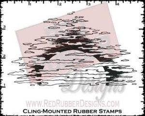 Setting Sun Cling Mounted Rubber Stamp from Red Rubber Designs