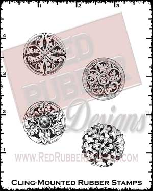 Mini Medallions Cling Mounted Rubber Stamps from Red Rubber Designs