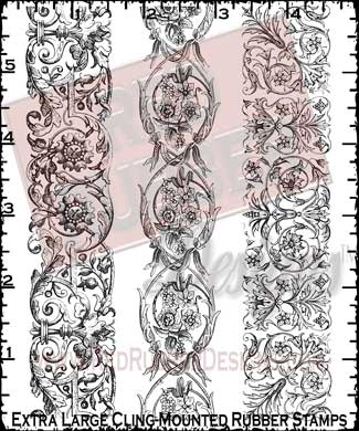 Victorian Borders Cling Mounted Rubber Stamps from Red Rubber Designs