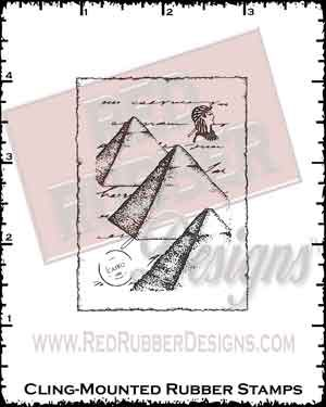 Pyramid Collage Cling Mounted Rubber Stamp from Red Rubber Designs