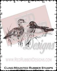 Ducks Cling Mounted Rubber Stamp from Red Rubber Designs