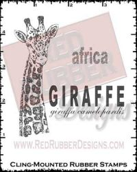 African Giraffe Cling Mounted Rubber Stamps from Red Rubber Designs