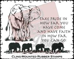 Take Pride Cling Mounted Rubber Stamps from Red Rubber Designs