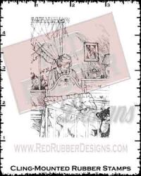 Lullaby Cling Mounted Rubber Stamp from Red Rubber Designs