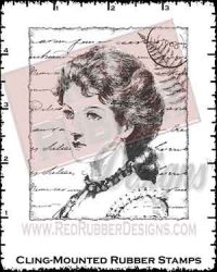 Victorian Collage Cling Mounted Rubber Stamp from Red Rubber Designs