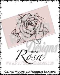 Rosa Cling Mounted Rubber Stamp from Red Rubber Designs