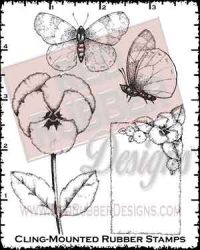 Pansies Cling Mounted Rubber Stamps from Red Rubber Designs