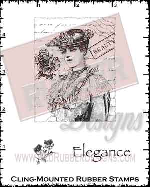 Elegance Cling Mounted Rubber Stamps from Red Rubber Designs