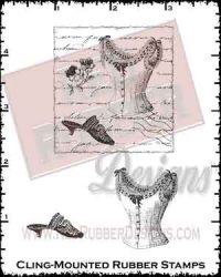 Elegant Beauty Cling Mounted Rubber Stamps from Red Rubber Designs